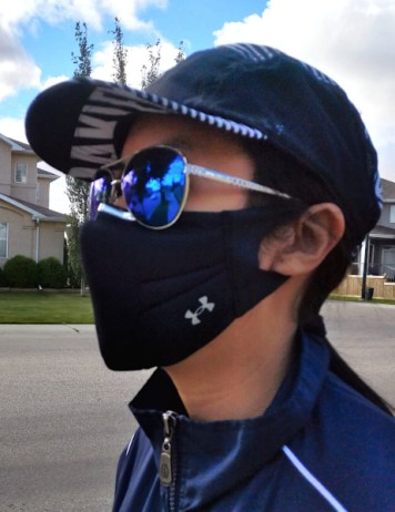 Wearing US SportMask with nose strip mod