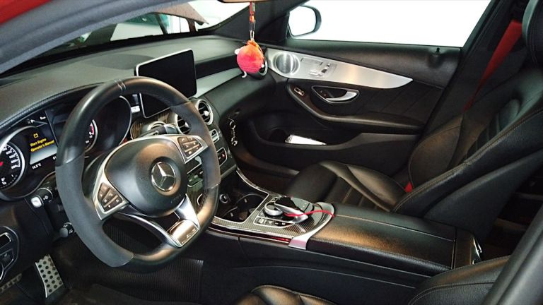 Newly cleaned interior of Mercedes-Benz C450 AMG Sport