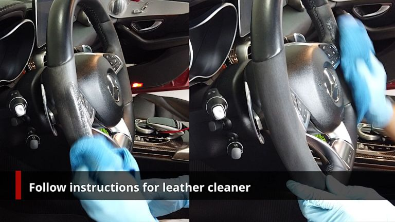 Cleaning Alcantara/Dinamica Step 2 - Clean following instructions of cleaner used
