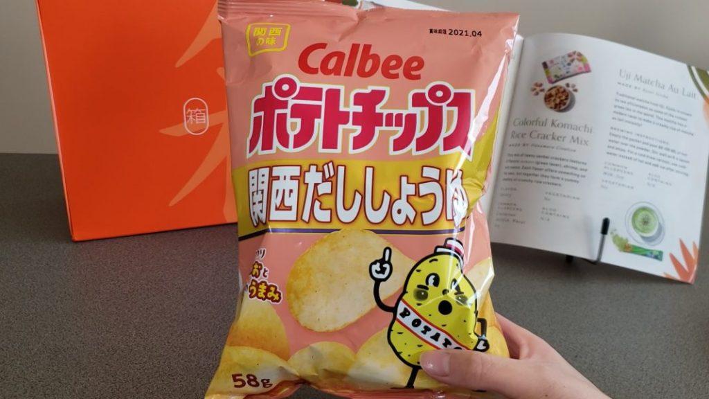 Potato chips: Kansai dashi soy sauce packaging