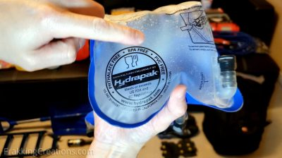 BPA free, Phthalate free, PVC free hydration pack for car emergency kit