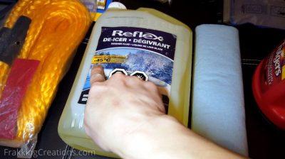 Windshield washer fluid for car emergency kit