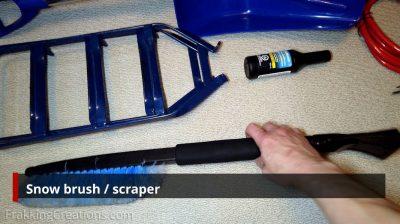 Snow brush/scraper for car emergency kit