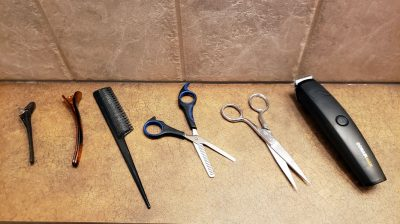 Tools used for haircuts at home
