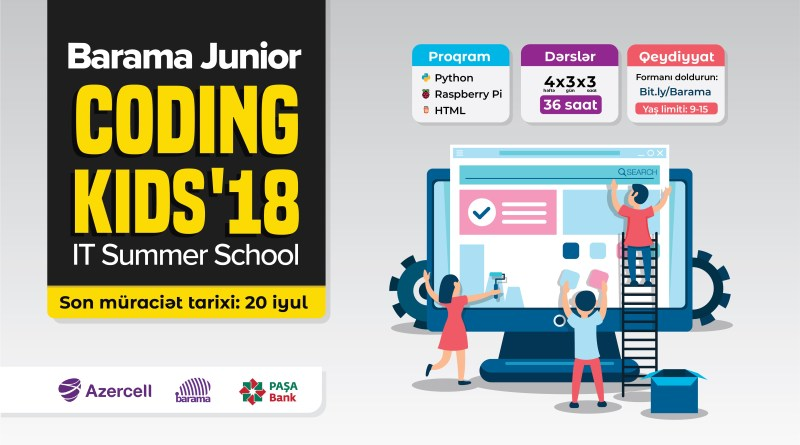 """Barama Junior 2018 / Summer IT school for kids"" layihəsinə start verildi"