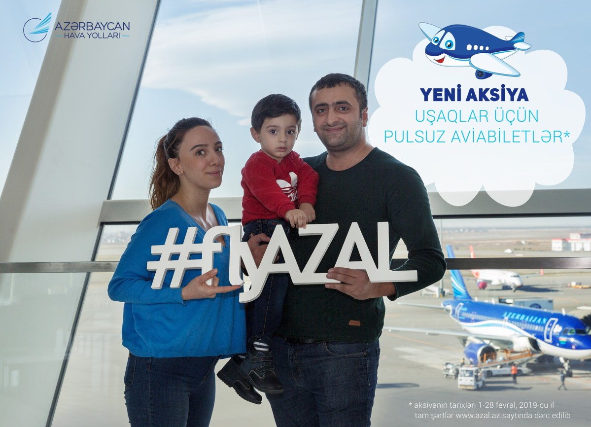 AZAL-dan qış aksiyası: Valideynləri ilə səyahət edən uşaqlara pulsuz aviabilet