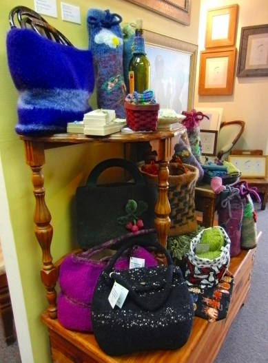 Handcrafted felted gift items mad by two local ladies.