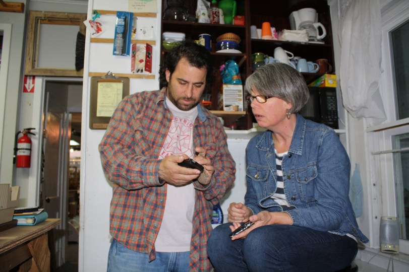 Mike and Val watching one of his skate videos