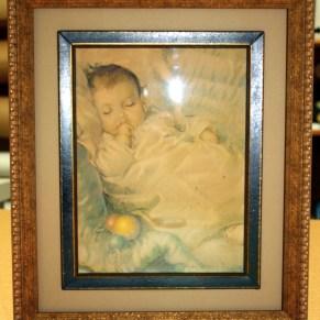 Antique frame, framed