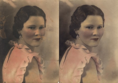 Look at the amazing results when you have photo restoration done at the Frame & I in Prescott