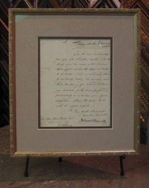 Horation Nelson Letter