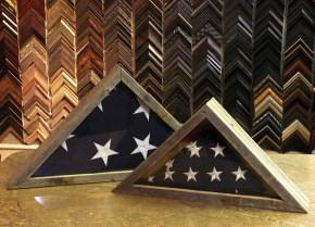Memorial Flags Rustic