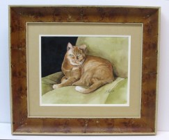 Orange Cat Watercolor