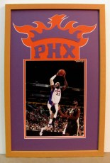 custom framed Phoenix Suns signed photo
