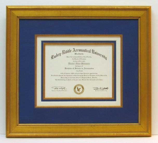 frame embry riddle diploma