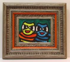 barbe cartoon cats acrylic painting frame sm