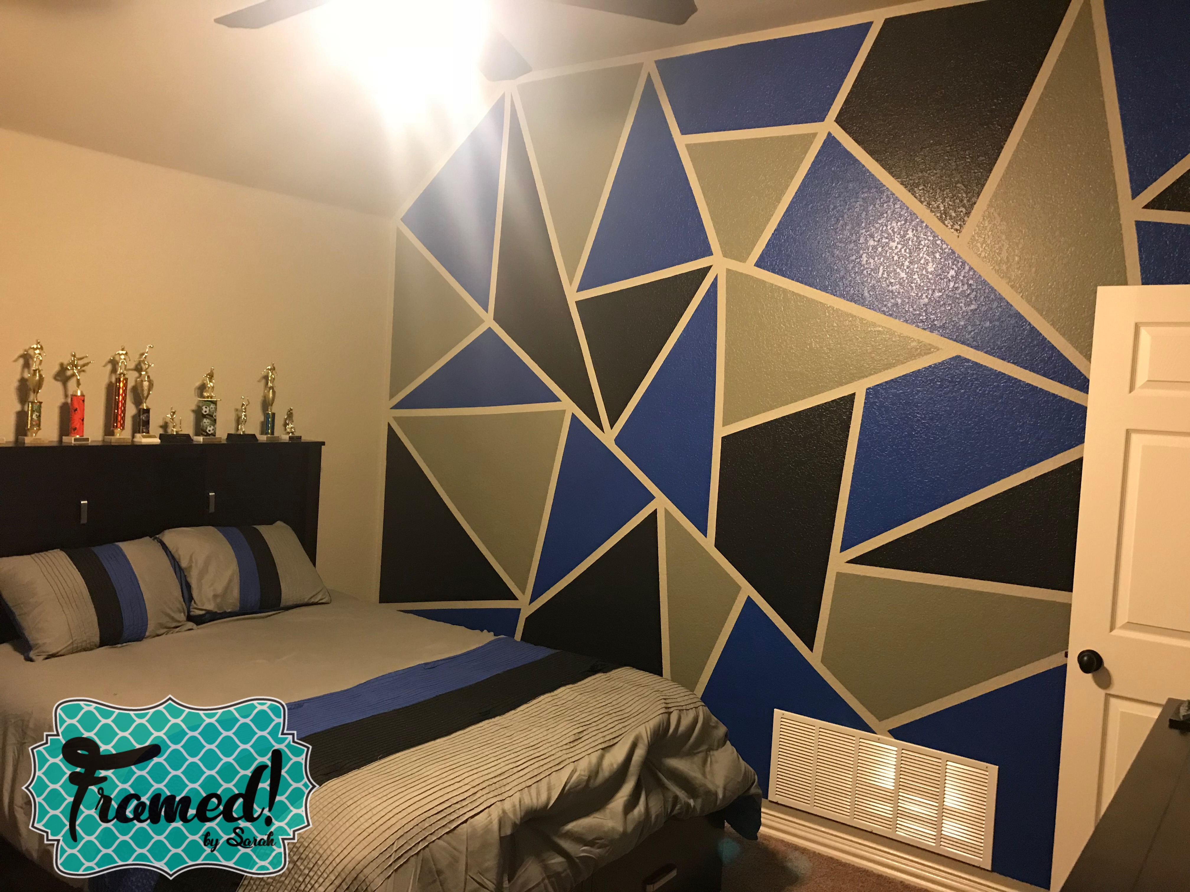 How to DIY Color Block Wall  Framed! by Sarah