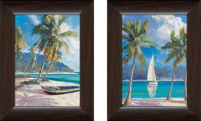 Island Breeze - Framed Canvas Art
