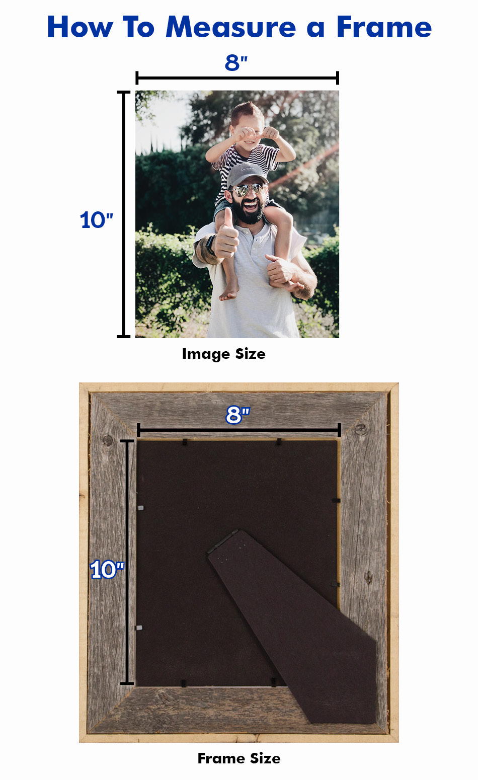 how to measure a picture frame