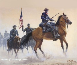 "BUFFALO SOLDIERS OF THE WEST by Mort Kunstler Includes a numbered first day cover initialed by the artist. Image size: 13.5 X 15.5"" (approx) In stock and available - Artist Proofs only - Current price $245"