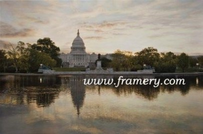 WE THE PEOPLE The U.S. Capital by dawn' early light. Giclee on Canvas - S&N - 20 x 30 - $450 Giclee on Paper - S&N - 20 X 30 - $195
