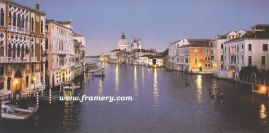 EVENING IN VENICE Giclee Canvas - Size: 30 x 60 $2200 Giclee Canvas - Size: 24 x 48 $1600 Canvas - S/N - Size: 18 x 36 $450 Print - S/N Size: 18 X 36 $195