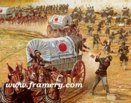 """SERVICE ON TIME Ordnance Mule Train Charge, Gettysburg, July 1 1863 Image size 18 X 22"""" In stock and available Current price - Call"""