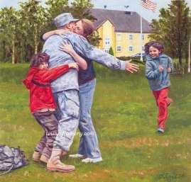 WELCOME HOME A warm welcome for a modern-day hero. Image size 15.25 X 15.5 In stock and available Current price - $175