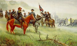 "LEE'S ""OLD WAR HORSE"" Lee and Longstreet on Seminary Ridge, Gettysburg, July 3, 1863. In stock and available Current price - AP only $550"