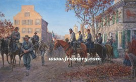 "LION OF THE VALLEY Stonewall Jackson in Winchester, Va. Image size 17 X 28"" Issue price $225"