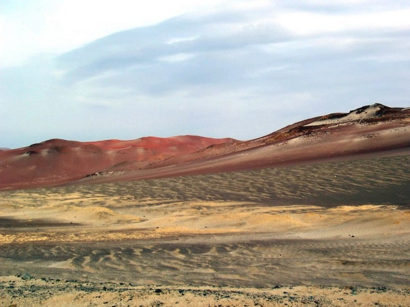 Burnt sandy hills - National Reserve of Paracas - Peru