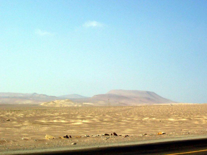 Tropical desert at Paracas National Reserve on the Paracas Peninsula, Ica, Peru.