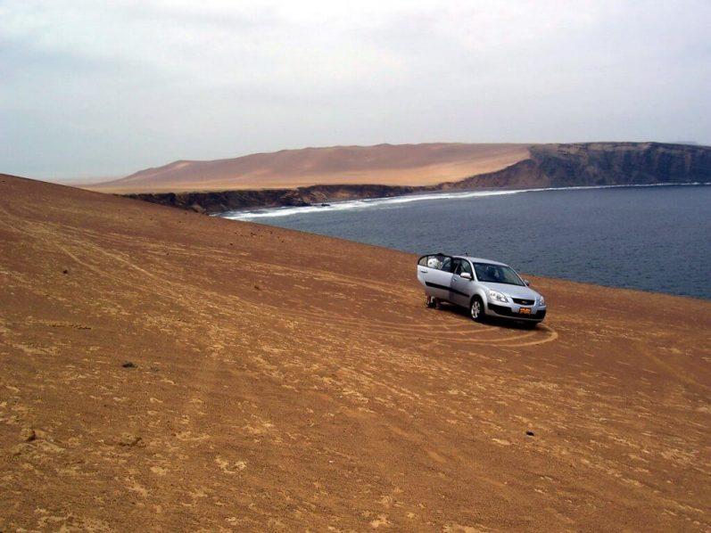 pacific coastline - national reserve of paracas - peru