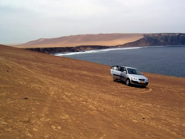 Pacific coastline on the edge of Paracas National Reserve, Ica, Peru.