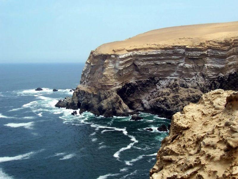 pacific ocean cliffs at National Reserve of Paracas - Peru