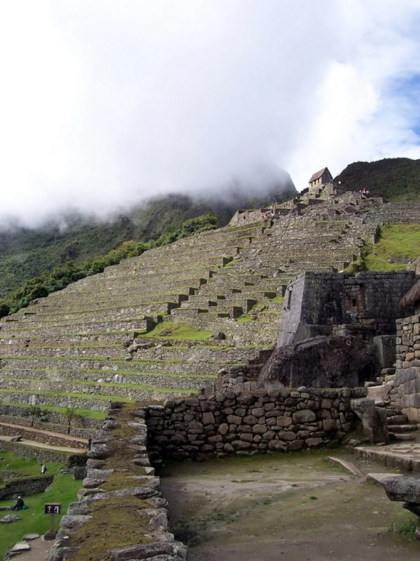 An image of the agricultural zone at Machu Picchu in Urubamba Province, Peru.