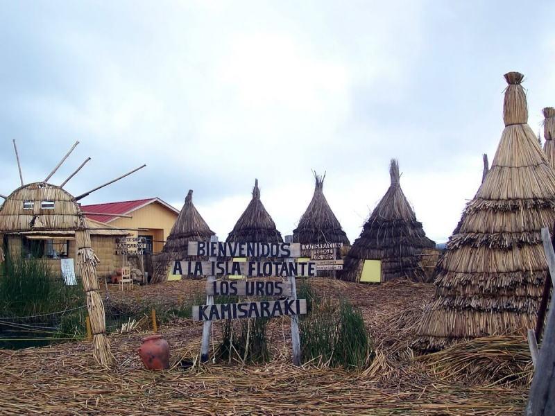 hotel los uros kamisaraki on floating island, lake titicaca, peru