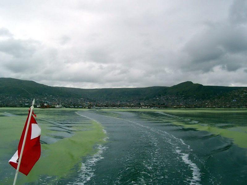 puno on shoreline, lake titicaca, peru