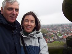bob and jean on balcony at hotel nadia, amsterdam