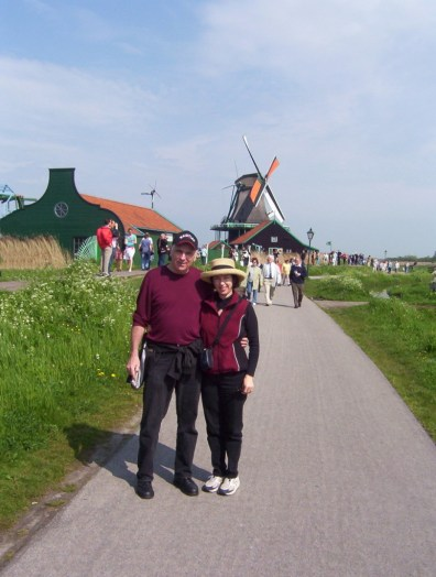 Jean and Bob at Zaanse Schans, the netherlands
