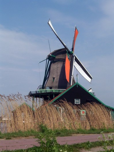Zaanse Schans windmill ,Holland