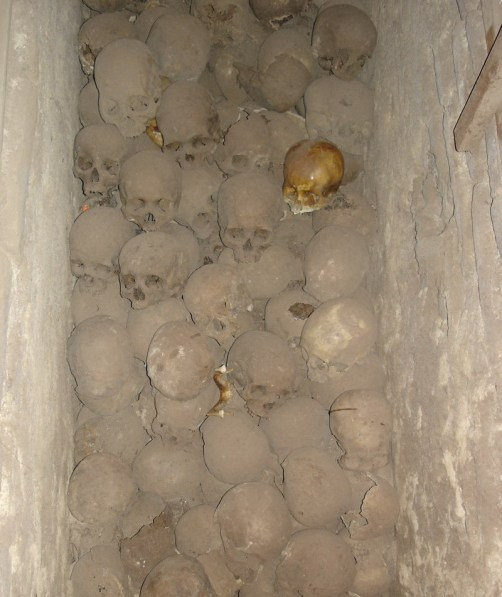 Skulls in the Catacombs of Saint Francis - Lima