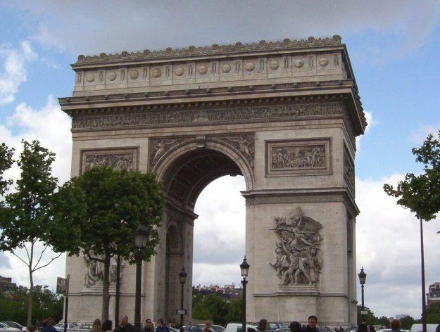 An image of the Arc de Triomphe in Paris, France.
