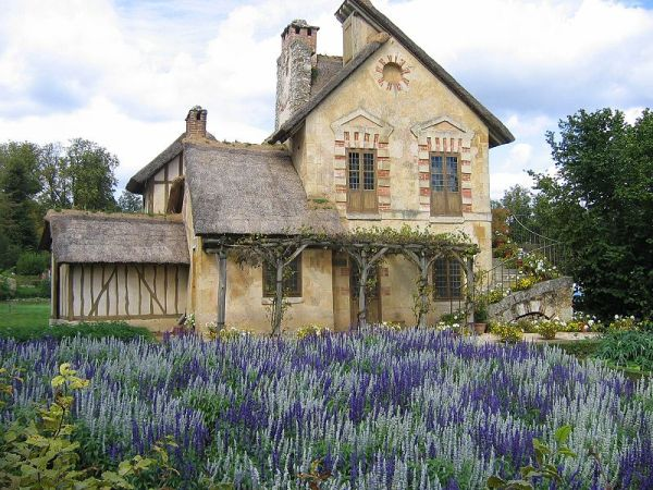 An image of the Moulin cottage in the Hamlet of Marie Antoinette at Versailles