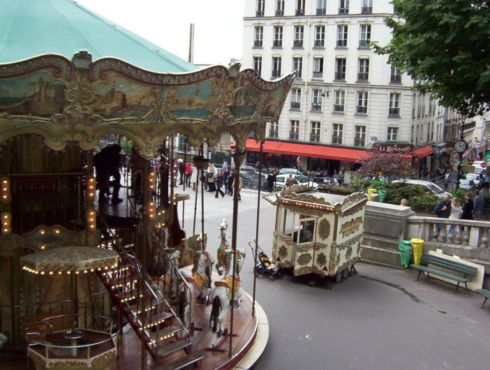 Carrousel in Place St-Pierre - featured in movie Amelie - Paris - France