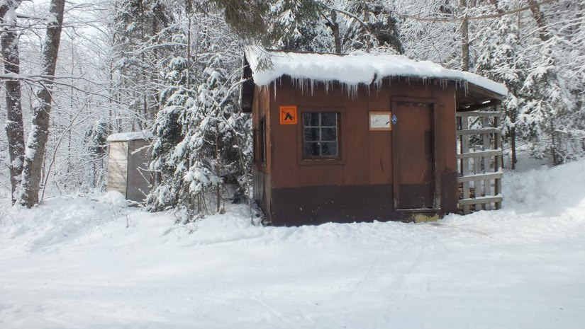 Fen Lake ski cabin & outdoor privy - Algonquin Park - Ontario