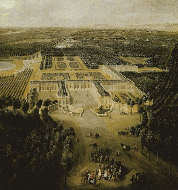 Grand Trianon Castle in 1700 - Domain of Versailles - France