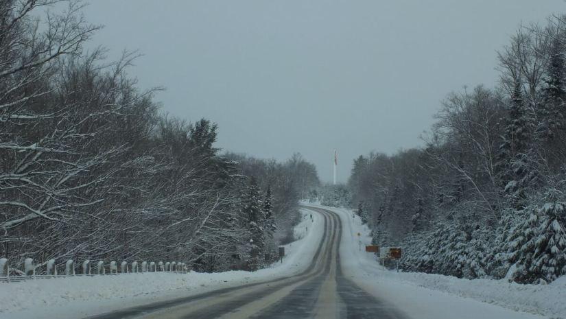 Highway 60 - Algonquin Park west gate entrance