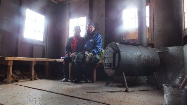 Jean and Bob at Fen Lake ski cabin - Algonquin Park - Ontario