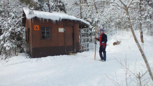 Jean at Fen Lake ski cabin - Algonquin Park - Ontario